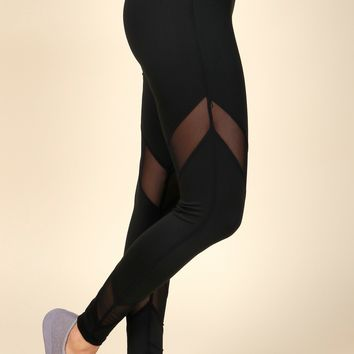 Don't Mesh Around Active Leggings Black