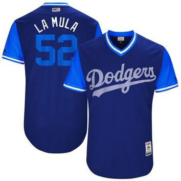 "Men's Los Angeles Dodgers Pedro Baez ""La Mula"" Majestic Royal 2017 Players Weekend Authentic Jersey"