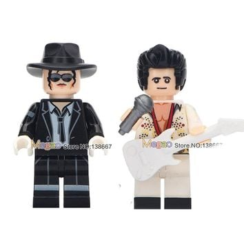 Legoing Friends Building Blocks Michael Jackson Elvis Presley Freddie Mercury Queen Kiss Band Tommy Thayer Legoing Figures Toys