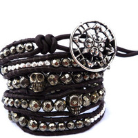 Tortuga Leather Wrap braclet by Lobsterpirate on Etsy