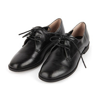 Square Toed Chic Black Loafers
