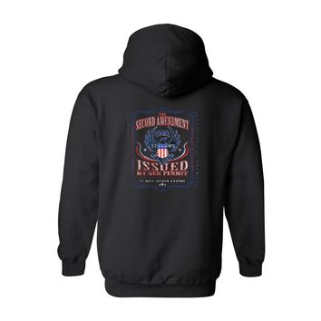 Men's/Unisex Pullover Hoodie The Second Amendment Issued My Gun Permit
