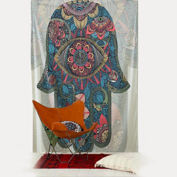 130*150CM/150*200CM Large Size Hamsa Hand Floral Printed Wall Hanging Tapestry Home Background Decorative Mat Blanket Cloth