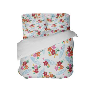 Surfer Girl Hawaiian Surf Comforter from Surfer Bedding