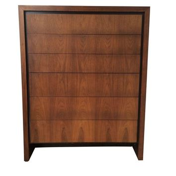 Pre-owned Walnut Highboy Dresser by Dillingham