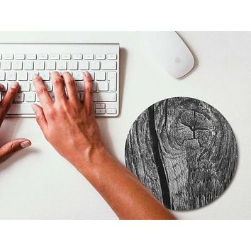 Mouse Pad BW Dry Wood Mousepad Art Mouse Mat