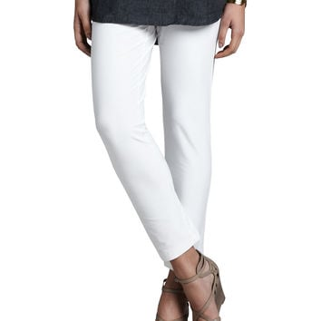 Women's Slim Stretch Crepe Ankle Pants - Eileen Fisher - White (MEDIUM)