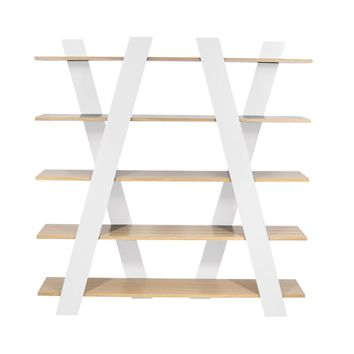 Wind Shelving Unit Oak / White