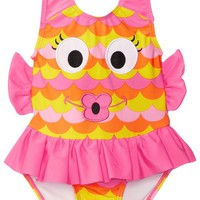 Candlesticks Baby Girls' Fishlicious Pink Swimsuit