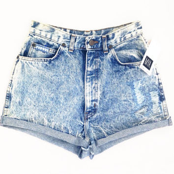 ACIDS High Waisted shorts, guess, levis, wrangles, Acid wash