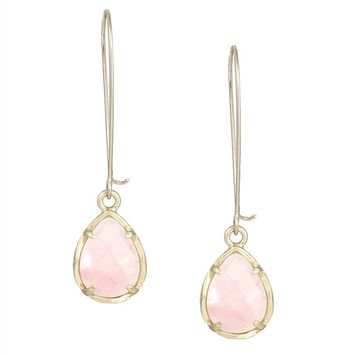 Kendra Scott Dee Earrings In Pink Rose Quartz