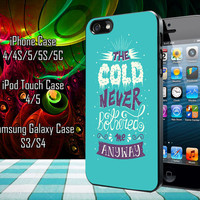 Frozen Collage Quotes Samsung Galaxy S3/ S4 case, iPhone 4/4S / 5/ 5s/ 5c case, iPod Touch 4 / 5 case