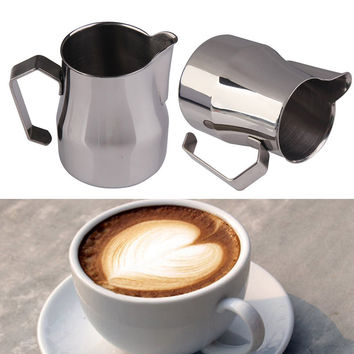 High Quality 500CC 350CC Coffee Mug Cup Jug SUS304 Coffee Shop Espresso Milk Latte Art Frothing Mug Jug Tamper Coffee Cup Mug