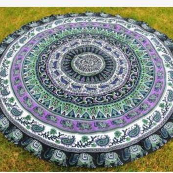 India Mandala Circular tapesty Moroccan Decorative Wall tapesty Bed Sheets Beach Yoga Mat Bohemian Style Decoration