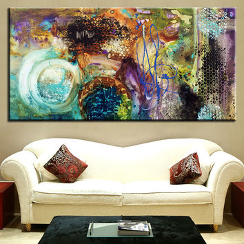 The most famous living room painting  Abstract Art wall painting for home decor ideas print on canvas oil painting No Framed