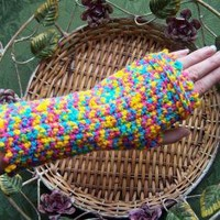 Bubble Gum Acrylic Fingerless Gloves by itsmythingdesigns