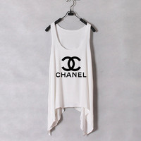 Classic Chanel Tank Top White