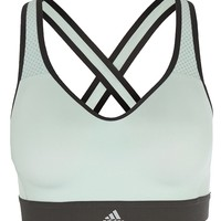 adidas Performance SUPERNOVA - Sports bra - vapor green/utility black - Zalando.co.uk
