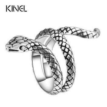 Fashion Snake Rings For Women Color Silver Heavy Metals Punk Rock Ring Vintage Animal Jewelry