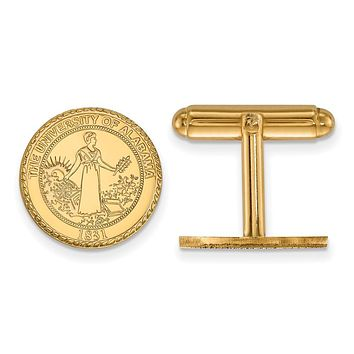 NCAA 14k Gold Plated Silver University of Alabama Crest Cuff Links
