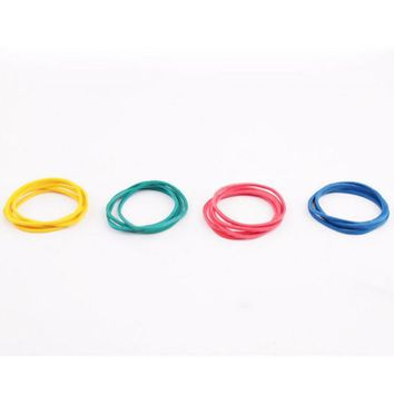 Fashion100 Pieces/Pac kColorful Nature Rubber Bands 40 mm School Office Home Industrial Rubber Band Fashion Stationery Package H