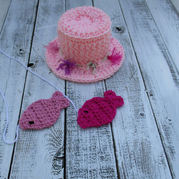 Baby Girl Fishing Hat Newborn Baby Photo Prop