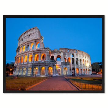 Rome Italy Landscape Photo Canvas Print Pictures Frames Home Décor Wall Art Gifts