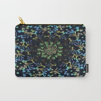 Black Russian Pattern Carry-All Pouch by Deluxephotos