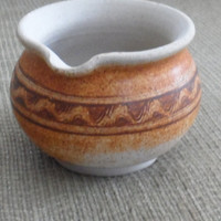 Vintage POTTERY MORTAR BOWL  / Purcell's Cove Pottery / Nova Scotia, Canada /1980's Pottery / Signed By Sally Ravindra - Potter