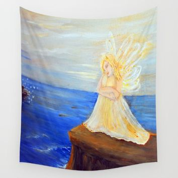 Invite your Angel | Angels are here Wall Tapestry by Azima