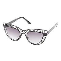 CUT-OUT CAT-EYE SUNGLASSES