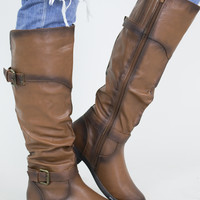 Vintage Buckle Riding Boots