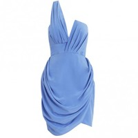 Silk Asymmetric Drape Dress - Ready To Wear - The Latest