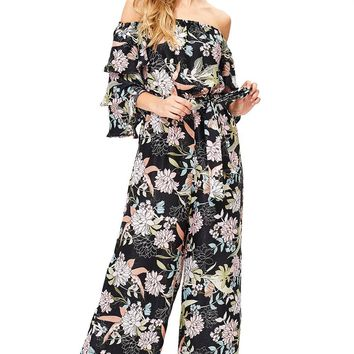 Lotus Ruffle Jumpsuit