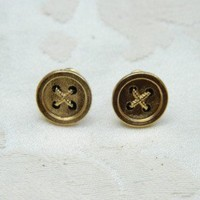 Buttoned Up Earrings