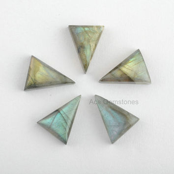 Triangle Stone 10x15mm, Labradorite Gemstone, Loose Gemstone, Calibrated Cabochons, Supplies Gemstone AAA Grade - 5 Pcs.
