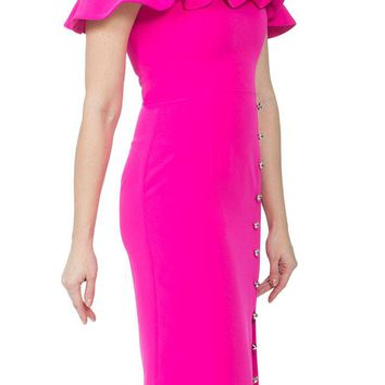 Jhene Dress - Hot Pink