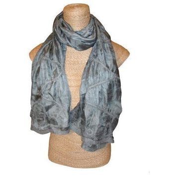 Felted Silk Scarf - Metal