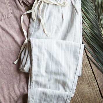 Cozumel Linen Pant, Taupe