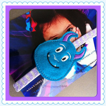 Monster inc inspired Sully headband