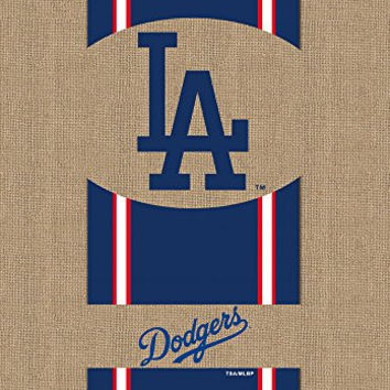 Evergreen Burlap Los Angeles Dodgers Garden Flag, 12.5 by 18 inches