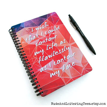 2016 Planner - Contour My Life - Daily Weekly Monthly - Makeup Student Agenda College Geometric Galaxy Motivational Quote