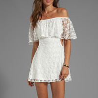 For Love & Lemons Tender Heart Dress in White from REVOLVEclothing.com
