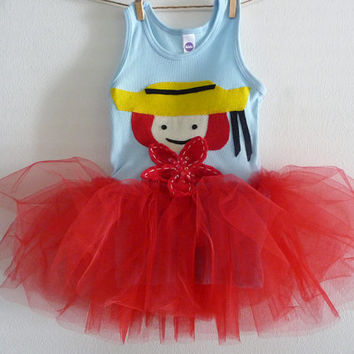 MADELINE TUTU - Madeline Birthday Tutu - Madeline Party - Infant sizes 3/6 months to 18/24 months, 2t, 4t, 6, 8 and up.