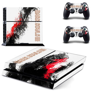 Dark souls 3 design decal for ps4 console sticker