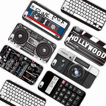 Retro Camera Cassette Tapes Boombox Calculator Keyboard Soft Phone Case Fundas For iPhone 6 6Plus 6S 7 7Plus 5 5S SE 5C SAMSUNG