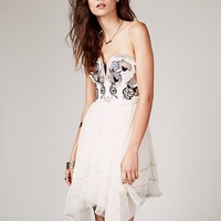 Free People Floral Bodice Mini Dress