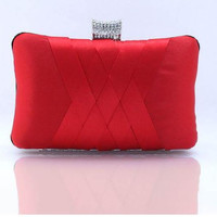 Women Satin Wedding Bridal Evening Handbag ,Party Club Purse, Clutch Bag( 10 color available)