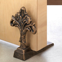 Fleur-De-Lis Decorative Cast Iron Door Stopper
