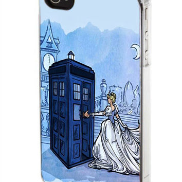 iPhone case, iPhone 4/4s case, iPhone 5 case, Samsung Galaxy s3/s4 case, Tardis With Disney Character